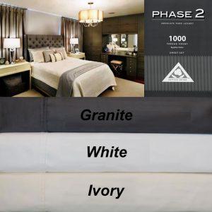 Bed Sheet Set Egyptian Cotton 1000TC Phase 2
