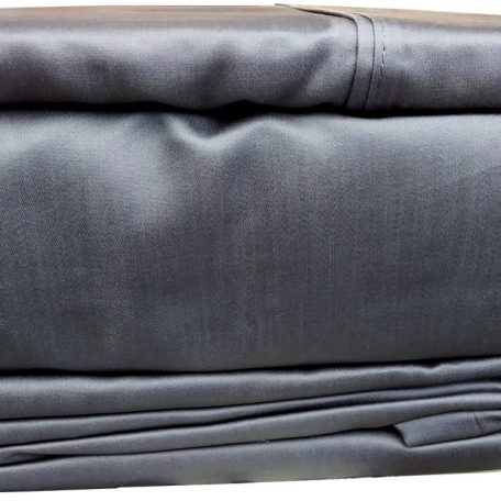1000 TC Egyptian Cotton Sheet Colour: Granite, folded
