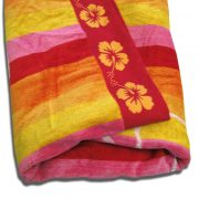 Stripes Flower Beach Towel