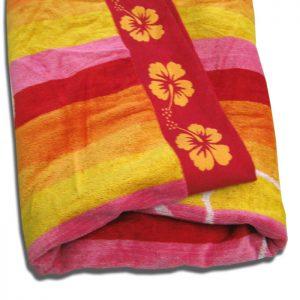 Stripes Flower Beach Towel