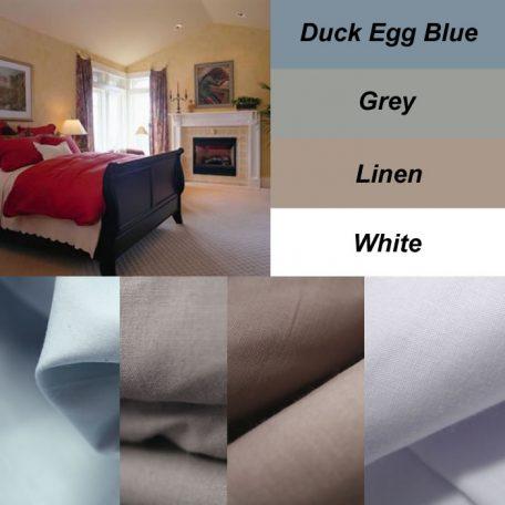250 TC Cotton Fitted Sheet Set / Combo 2