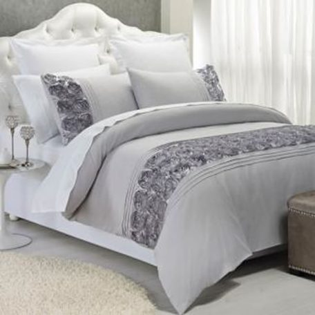 Palazzo Quilt Cover Set Silver