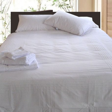 Pintuck Quilt Cover White